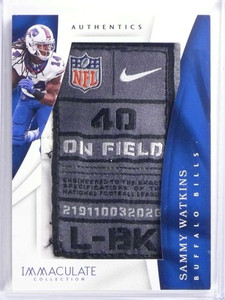 2017 Panini Immaculate Authentics Sammy Watkins Laundry Tag patch #D2/3 *70125