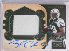 2011 National Treasures Bilal Powell autograph auto 2clr patch rc #D36/99 *70170