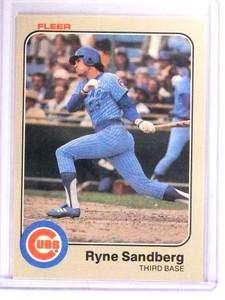 1983 Fleer Ryne Sandberg Rookie RC #507 UER *51428