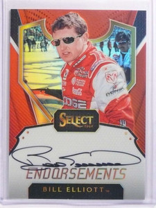 2017 Panini Select Endorsements Bill Elliott autograph auto #D25/25 #E-BE *70188