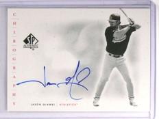 2001 SP Authentic Chirography Jason Giambi Autograph auto #JG *70611