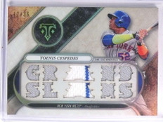 2017 Topps Triple Threads Relics Yoenis Cespedes Jersey #D12/36 #TTRYC5 *70508