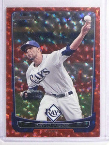 2012 Bowman Red Silver Ice David Price #D09/25 #181 *70913