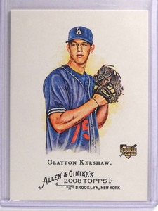 2008 Topps Allen & Ginter Clayton Kershaw Rookie RC #72 *70676
