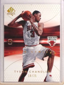 2004-05 SP Authentic Limited Extra Tyson Chandler #D18/25 #12 *70674