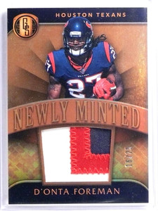 2017 Gold Standard Newly Minted D'onta Foreman Rookie Patch #D16/25 *70424