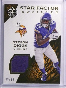 2016 Panini Limited Star Factor Stefon Diggs Jersey #D09/99 #27 *70531