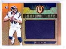 2017 Panini Gold Standard Golden Jumbo Threads Jared Goff Jersey #D42/99 *70628