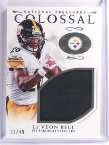 2016 Panini National Treasures Colossal Le'Veon Bell Jersey #D12/49 #38 *70848
