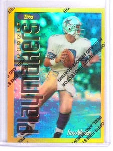 1996 Topps Finest Gold Rare Refractor Troy Aikman #178 *70831
