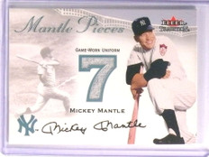 2000 Fleer Tradition Mickey Mantle Number Pieces Jersey *70993
