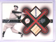 2001 Upper Deck SPX Winning Materials Joe Dimaggio jersey bat #JD *70997