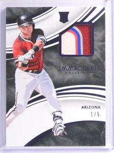 2016 Panini Immaculate Brandon Drury 4 color patch rookie rc #D1/5 *71093
