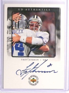 1998 Upper Deck UD Authentics Troy Aikman autograph auto #TA-1 *71007