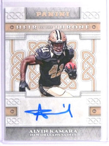2017 Panini Heir To The Throne Alvin Kamara autograh auto rc rookie #AK *71083