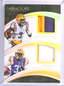 2016 Panini Immaculate Odell Beckham JR. Jeremy Hill dual patch #D10/25 *71108