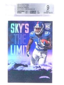 2014 Certified Sky's The Limit Green Odell Beckham Jr. rc rookie #D2/5 BGS 9 *70951