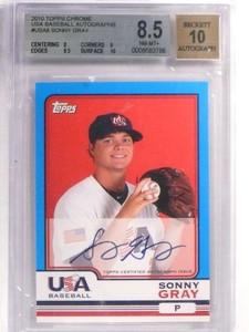2010 Topps Chrome USA Sonny Gray Rookie Autograph #USA8 BGS 8.5 10 *71420