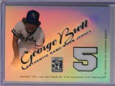 2001 Topps Tribute Retired Numbers George Brett Jersey #RJGB *71259