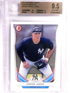 2014 Bowman Draft Top Prospects Aaron Judge Rookie RC BGS 9.5 GEM MINT *71361