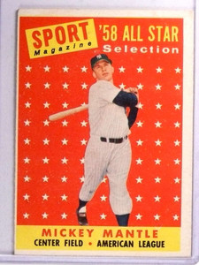 1958 Topps '58 All Star Selection Sport Magazine Mickey Mantle #487 VGEX *71349