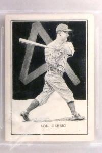 1950-56 Callahan HOF W576 Lou Gehrig BVG 7 NEar Mint #33 *71353