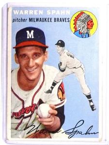 1954 Topps Warren Spahn #20 VG *71375