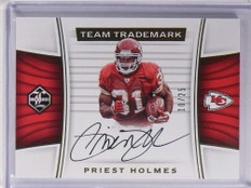 2017 Panini Limited Team Trademark Priest Holmes autograph auto #D10/25 *71186
