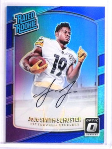 2017 Donruss Optic Blue Holo Juju Smith-Schuster Rookie AUtograph #D20/75 *71317