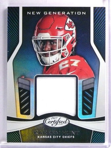 2017 Panini Certified New Generation Kareem Hunt rookie rc Jersey #NGKH *71467