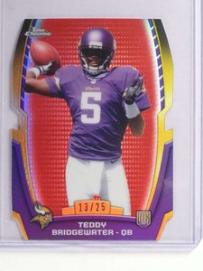 2014 Topps Chrome Mini Red Refractor Diecuts Teddy Bridgewater rc #D13/25 *71178