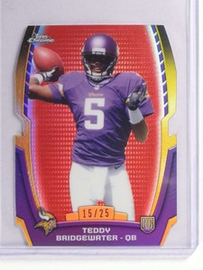 2014 Topps Chrome Mini Red Refractor Diecuts Teddy Bridgewater rc #D15/25 *71179