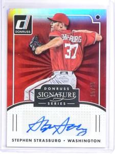 2016 Donruss Signature Series Red Stephen Strasburg Autograph #D15/15 *60564