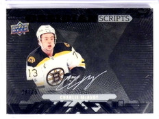 2017-18 UD Black Obsidian Scripts Charlie McAvoy autograph rc rookie #D/35 *71316