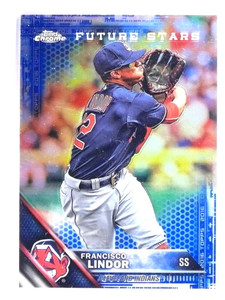 2016 Topps Chrome Blue Refractor Francisco Lindor #D026/150 #3 *71704