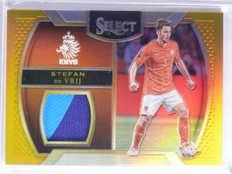 2016-17 Select Gold Stfan de Vrij Patch #D01/10 #MSDV *65731