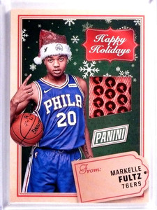 2017 Panini Black Friday Happy Holidays Markelle Fultz Santa Hat #HHMF *71525