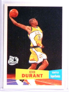 2007-08 Topps 1957-58 Variation Kevin Durant Rookie RC #112 *71523