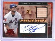 2005 Fleer National Pastime Swings Mike Piazza autograph auto bat #D06/30 *71994