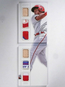 2015 National Treasures Armory Maikel Franco Tag Patch jersey bat rc #/10 *71984