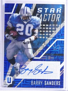 2017 Panini Unparalleled Star Factor Barry Sanders autograph auto #D05/10 *71900