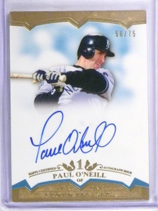 2011 Topps Tier One Crowd Pleasers Paul O'Neill Autograph #D56/75 #CPPO *58297