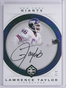 2017 Panini Limited Ring Of Honor Lawrence Taylor autograph auto #D3/3 *71932