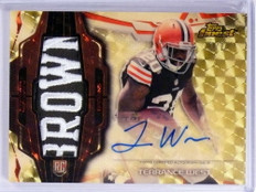 2014 Topps Finest Superfractor Terrance West autograph patch rc #D 1/1 *71947