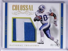 2017 National Treasures Colossal Gold Barry Sanders jumbo patch #D03/10 *71905
