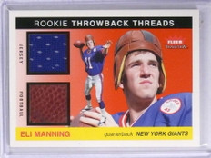 2004 Fleer Tradition Rookie Throwback Eli Manning jersey ball #d10/50 *72008