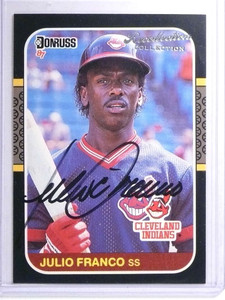2004 Donruss Timelines Recollection Collection Julio Franco autograph /59 *72168