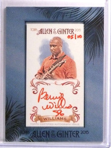 2015 Topps Allen & Ginter Red Ink Bernie Williams autograph auto #D05/10 *72219