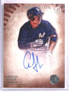 2015 Bowman Inception Aaron Judge autograph auto rc rookie #PA-AJ *72221