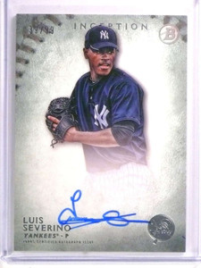 2015 Topps Inception Green Luis Severino autograph auto rc rookie #D39/99 *72308